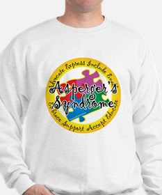 Asperger's Syndrome Puzzle Pi Sweatshirt