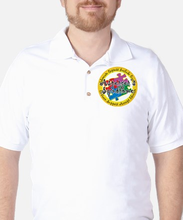 Asperger's Syndrome Puzzle Pi Golf Shirt
