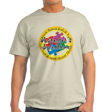 Asperger's Syndrome Puzzle Pi Light T-Shirt