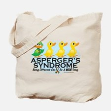 Asperger's Syndrome Ugly Duck Tote Bag