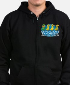 Asperger's Syndrome Ugly Duck Zip Hoodie