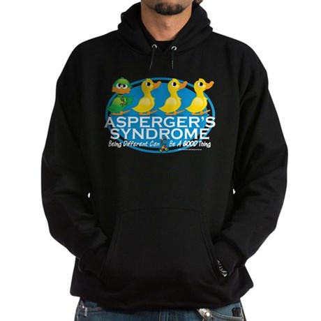 Asperger's Syndrome Ugly Duck Hoodie (dark)