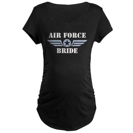 Air Force Bride Maternity Dark T-Shirt