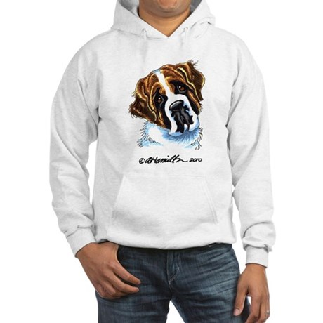 Saint Bernard Portrait Hooded Sweatshirt