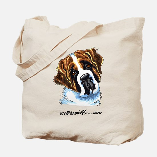 Saint Bernard Portrait Tote Bag