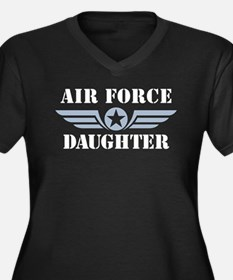 Air Force Daughter Women's Plus Size V-Neck Dark T