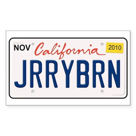 Jerry Brown for California Sticker