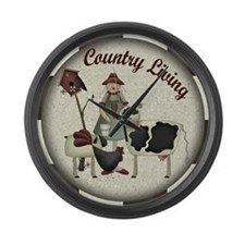 Country Living Large Wall Clock