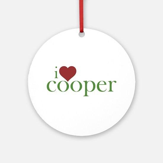 I Heart Cooper Round Ornament