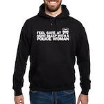 Funny Police Woman Hoodie (dark)