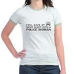 Funny Police Woman Jr. Ringer T-Shirt