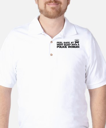 Funny Police Woman Golf Shirt