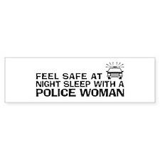 Funny Police Woman Bumper Bumper Sticker
