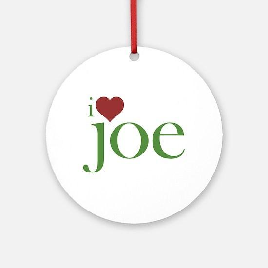 I Heart Joe Round Ornament