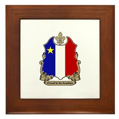 Proud Acadian Framed Tile