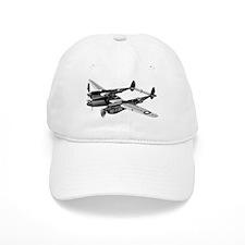 P-38 Lightning B&W Baseball Cap