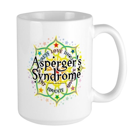 Asperger's Syndrome Lotus Large Mug