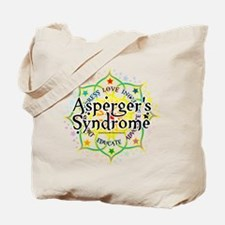 Asperger's Syndrome Lotus Tote Bag