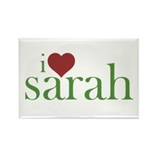 I Heart Sarah Rectangle Magnet