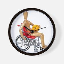 Wheelchair Basketball Wall Clock