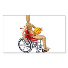 Wheelchair Basketball Decal