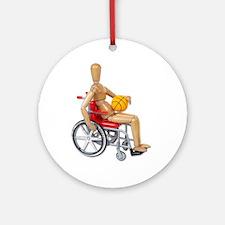 Wheelchair Basketball Ornament (Round)
