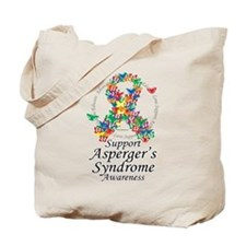 Asperger's Syndrome Ribbon of Tote Bag