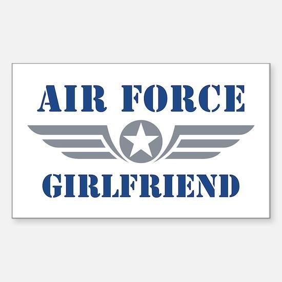 Air Force Girlfriend Sticker (Rectangle)