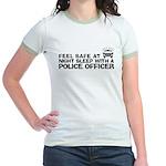 Funny Police Officer Jr. Ringer T-Shirt
