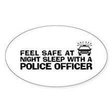 Funny Police Officer Decal