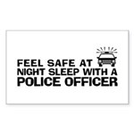 Funny Police Officer Sticker (Rectangle)