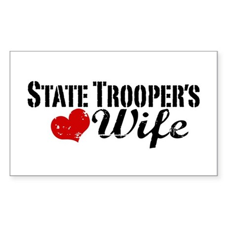 State Trooper's Wife Sticker (Rectangle)