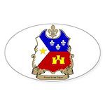 Proud Cajun Oval Sticker