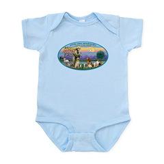 St Francis / dogs-cats Infant Bodysuit