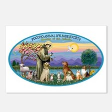 St Francis / dogs-cats Postcards (Package of 8)