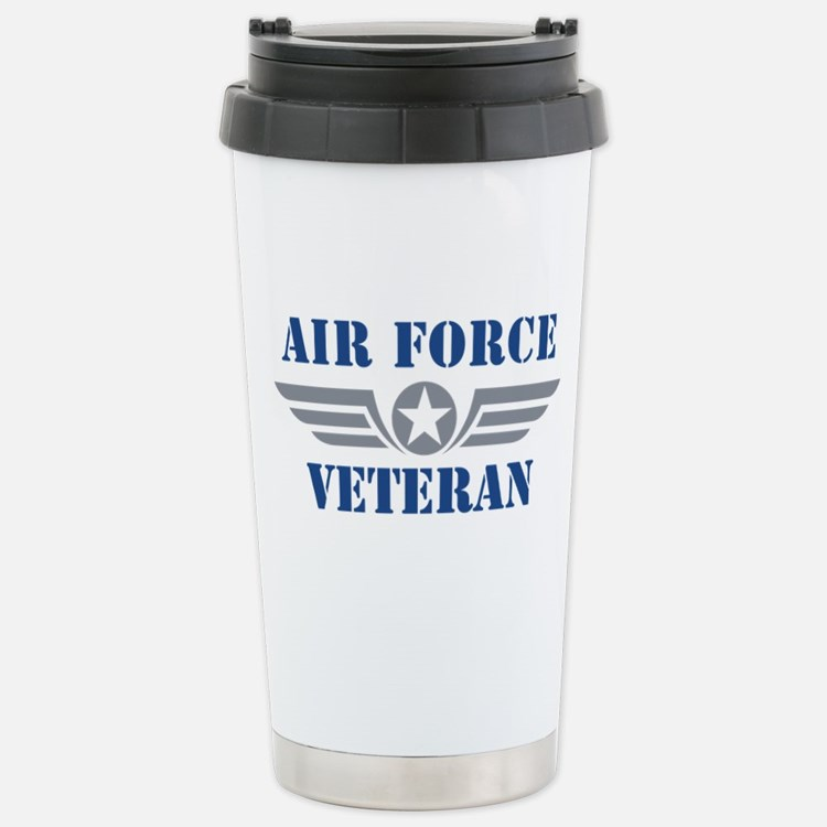 Air Force Veteran Stainless Steel Travel Mug