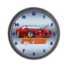 Red RS Camaro Wall Clock