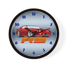 Red RS Camaro Wall Clock