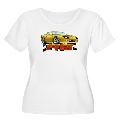 Yellow RS Camaro Women's Plus Size Scoop Neck T-Sh