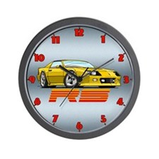 Yellow RS Camaro Wall Clock