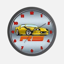 Yellow RS Camaro Wall Clock