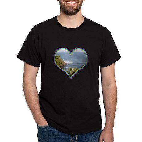 Hawaii Heart Black T-Shirt
