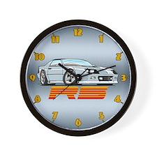 White RS Camaro Wall Clock