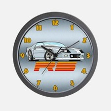 White RS Camaro Wall Clock