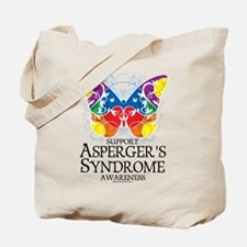 Asperger's Syndrome Butterfly Tote Bag
