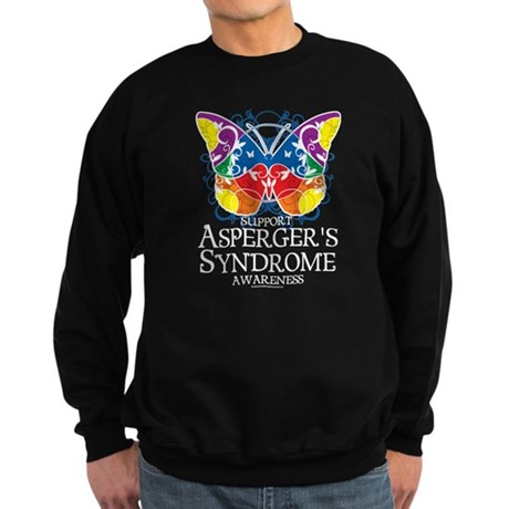 Asperger's Syndrome Butterfly Sweatshirt (dark)