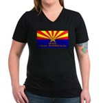 SB1070 Women's V-Neck Dark T-Shirt