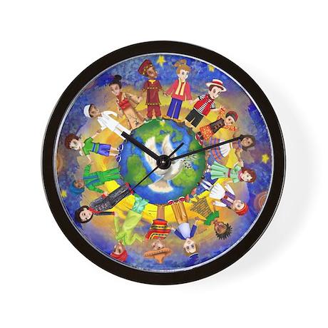 World Children Peace Wall Clock