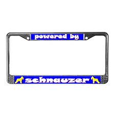 Powered by Schnauzer (Std) License Plate Frame