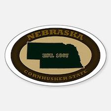 Nebraska Est. 1867 Sticker (Oval)